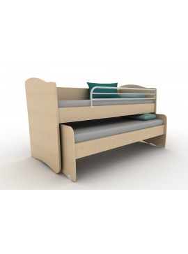 ΚΟΥΚΕΤΑ  IVREN ΧΑΜΗΛΗ  Twins Ir/218  για άνω κρεβάτι για στρώμα 90χ200cm  κάτω κρεβάτι για στρώμα 90χ190 cm ΧΡΩΜΑΤΟΣ  ΔΡΥΣ