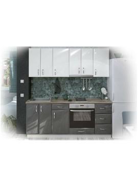 Σύνθεση Κουζίνας μήκους 4.00 μ, MDF Gloss 200, Genomax  12814-32379