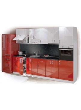Σύνθεση Κουζίνας μήκος 6.00 μ, Luxury 300 με ΔΩΡΟ δυο πάγκους , Genomax  12814-19198