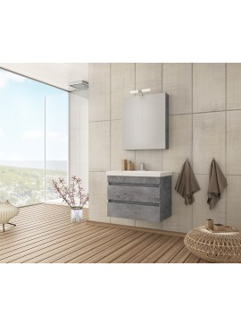 Drop Luxus 70 Granite Έπιπλο Μπάνιου Κρεμαστό 70cm Πλήρες Σετ