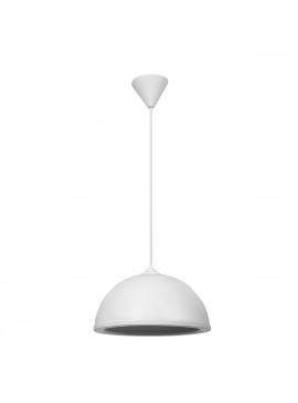 Φωτιστικό Κρεμαστό Μονόφωτο Λευκό Πλαστικό Ε27 32*32*70Cm MEC-222BWHITE