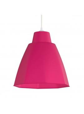 Φωτιστικό Κρεμαστό Μονόφωτο Ρόζ Πλαστικό Ε27 19*19*70cm MEC-225RED