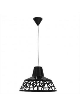 Φωτιστικό Κρεμαστό Μονόφωτο Τρυπητό Μαύρο Πλαστικό Ε27 34*34*70cm MEC-226BLACK