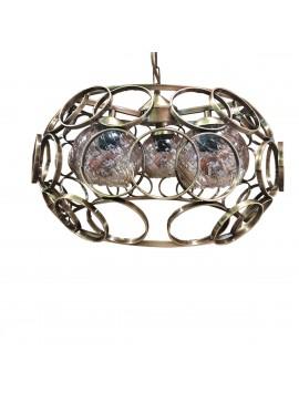Φωτιστικό Circle, Μπρονζέ με Γυαλιά, Διαμ.45cm, MEC-3290-BEBRONZE