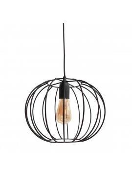 Φωτιστικό Κρεμαστό Μεταλλικό Μαύρο σε σχήμα μπάλα. MEC-455230