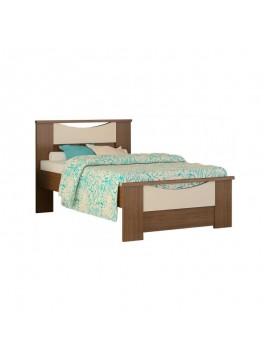 84499 Παιδικό κρεβάτι Χαμόγελο μονό (90x190) Καρυδί-Μπεζ (No 15,Μ)