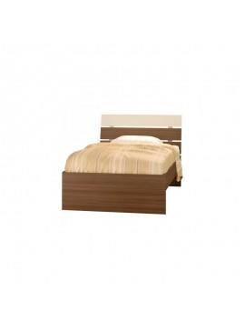82307 Παιδικό κρεβάτι Νότα ημίδιπλο (110x190) Καρυδί-Μπεζ (Γ52,Σ)