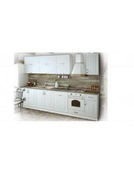 Σύνθεση Κουζίνας 5.80 μ., MDF Vintage 320 με ΔΩΡΟ πάγκο και πλάτη, Genomax  12814-32380