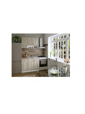 Σύνθεση Κουζίνας 2.40μ., Luxury 120, Genomax - Δρυς  Χρώμα 12814-3258123232