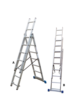 Profal Τριπλή Σκάλα Αλουμινίου 3x8 801308