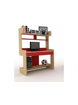 IRVEN Σύνθεση βιβλιοθήκης μοριοσανιδας γραφείου Ir/149  Χρώματος μπέζ-κόκκινο  109χ160χ60