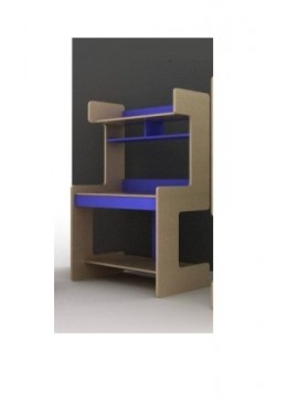 IRVEN Σύνθεση βιβλιοθήκης μοριοσανιδας γραφείου Ir/149-blue  Χρώματος μπέζ-μπλέ  109χ160χ60