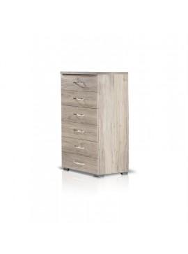 Heri Xylo  Συρταριέρα σειρά ΝΕΤ με 6 συρτάρια 60 cm x 107 x 43.5cm-ΚΩΔ.09-02