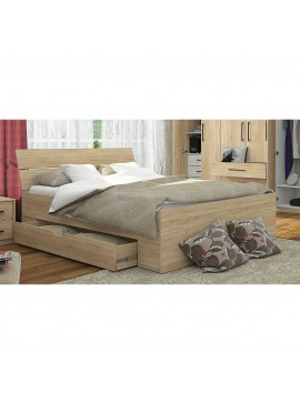 Κρεβάτι Greenwich 180x200 Υπέρδιπλο με 2 συρτάρια Sonoma SO-GREBED180