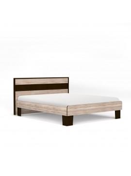 Κρεβάτι Scarlet 140x200 Ημίδιπλο Με διακοσμητική κορνίζα MDF Sonoma-Wenge SO-SCARLE140