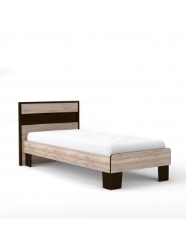 Κρεβάτι Scarlet 90x200 Μονό Με διακοσμητική κορνίζα MDF Sonoma-Wenge SO-SCARLET90