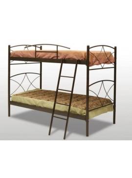 Μεταλλικό κρεβάτι κουκέτα Ανδρος (Για Στρώματα 110x200) ΜΕ 7 ΕΠΙΛΟΓΕΣ ΧΡΩΜΑΤΩΝ  andros-kouketa110-200