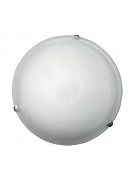 Φωτιστικό Οροφής Μονόφωτο Γυάλινο Άσπρο Αλάβαστρορο Φ30x10εκ Ε27 TA-61930WA