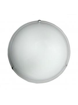 Φωτιστικό Οροφής, Χρώμα Άσπρο, Αλάβαστρο, με Διάμετρο 40 εκ.  2 Λάμπες Τύπου Ε27 (Max 40 Watt, δεν περιλαμβάνεται). TA-61940WA