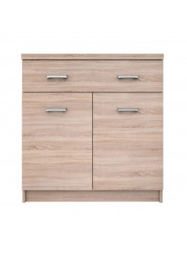 Κομότα ΚΟΜ 80x33x85, Σονόμα, 1 συρτάρι και 2 Πόρτες, κατάλληλο για Είσοδο. TO-KOM2D1S