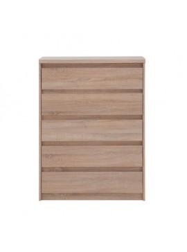 Συρταριέρα LAHTI 5 Συρτάρια Χρώμα SONOMA 83*40*115 TO-LAHTI5S