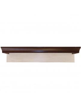 Ράφι Κρεμαστό Lavenda 110x22, Λευκό Pine-Wenge, MDF Διακόσμηση TO-SHELF110