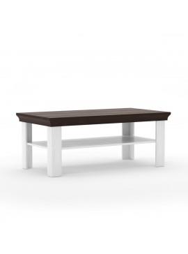 Τραπέζι Σαλονιού Lavenda 125x65 Λευκό Pine-Wenge TO-TABLE120