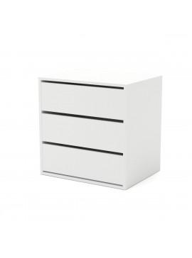 Συρταριέρα VERONA3S με 3 Συρτάρια Λευκό Χρώμα 64,7*49,5*65, Εσωτερική για ντουλάπα Verona  TO-VERONA3S