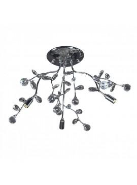 Φωτιστικό οροφής, Χρώμιο με Κρύσταλλα, 3 λάμπες τύπου G9 (Max 40 Watt, δεν περιλαμβάνονται), TOP-1593CA-3