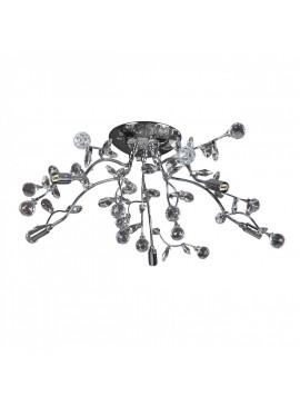 Φωτιστικό οροφής, Χρώμιο με Κρύσταλλα, 5 λάμπες τύπου G9 (Max 40 Watt, δεν περιλαμβάνονται), TOP-1593CA-5