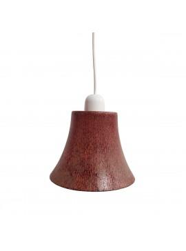 Κρεμαστό Φωτιστικό Μονόφωτο Γυάλινο καφέ Ε14 Φ17x75εκ TOP-689KF-1