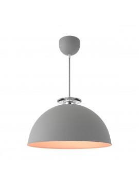 Φωτιστικό κρεμαστό,μεταλλικό, χρώμα Σίδηρος-Χαλκός με γκρι υφασμάτινο καλώδιο, διάμετρος 32 εκ. TOP-9003-1