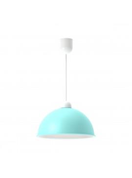 Φωτιστικό κρεμαστό,μεταλλικό, χρώμα Τυρκουάζ, διάμετρος 33 εκ.TOP-9027-1T