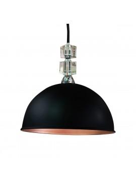 Φωτιστικό κρεμαστό 'Arya',μεταλλικό, χρώμα Μαύρο Ματ-Χαλκός, διάμετρος 33 εκ.TOP-9035-1