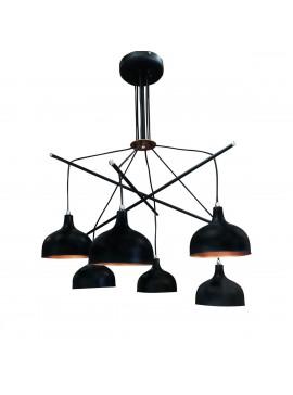 Φωτιστικό Μοντέρνο  Μαύρο μάτ Με Χαλκό 70*85, TOP-9036-6