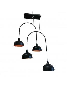 Φωτιστικό Μοντέρνο  Μαύρο μάτ Με Χαλκό 63*100, TOP-9037-4