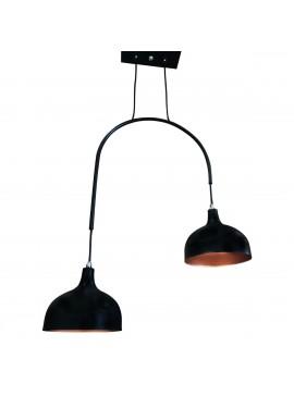 Φωτιστικό Μοντέρνο  Μαύρο μάτ Με Χαλκό 48*100, TOP-9038-2