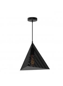 Φωτιστικό Κώνος, Μεταλλικό Διάτρητο, Χρώμα Μαύρο. 1 Λάμπα Τύπου Ε27 (Max 40 Watt, δεν περιλαμβάνεται). TOP-910-1