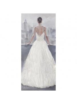 Πίνακας με ύφασμα, Λευκό φόρεμα 3D, 70x150 εκ . W-150199B