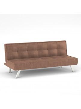 Καναπές Κρεβάτι Chic, Χρώμα Καφέ Ύφασμα 178x80x76. ZK-ZB18-3BR
