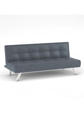 Καναπές Κρεβάτι Chic, Χρώμα Σιέλ-Γκρί Ύφασμα 178x80x76. ZK-ZB18-3BSIELGREY