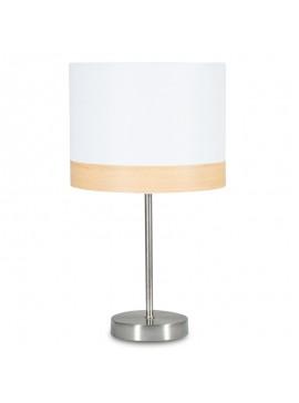 Επιτραπέζιο μεταλλικό φωτιστικό PWL-0015 pakoworld με λευκό καπέλο Φ23x41εκ 009-000052