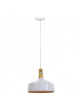 Κρεμαστό φωτιστικό οροφής αλουμινίου PWL-0018 pakoworld σε λευκό χρώμα Φ34x31εκ 009-000055