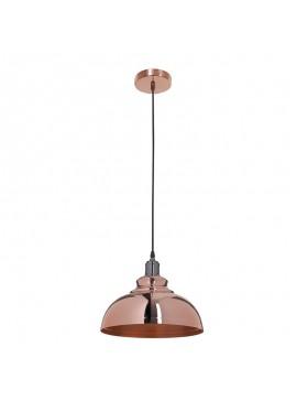 Kρεμαστό φωτιστικό οροφής PWL-0020 pakoworld σε χρώμα χρυσό μπρονζέ Φ30x23εκ 009-000057