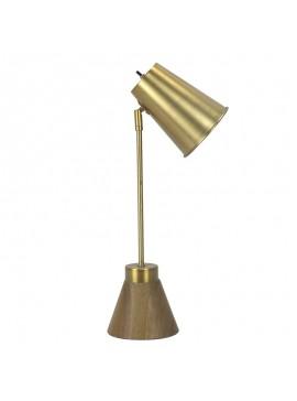 Επιτραπέζιο μεταλλικό φωτιστικό PWL-0131 pakoworld Ε27 χρώμα χρυσό 18x25x56εκ 009-000074