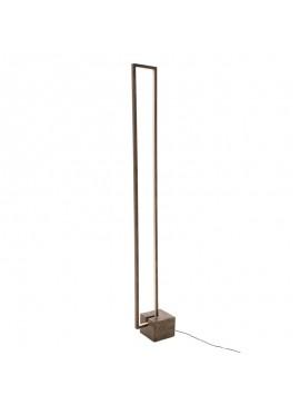 Φωτιστικό δαπέδου LED PWL-0941 pakoworld καφέ χρώμα 15x28x155εκ 009-000088