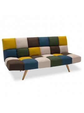 Καναπές - κρεβάτι 3θέσιος Freddo pakoworld με ύφασμα πολύχρωμο 182x81x84εκ 024-000011