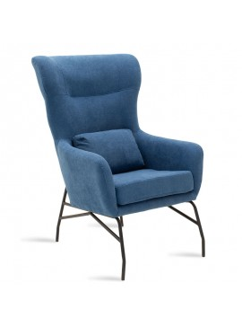 Πολυθρόνα - μπερζέρα Rimbo pakoworld με ύφασμα μπλε 66x81x102εκ 024-000014