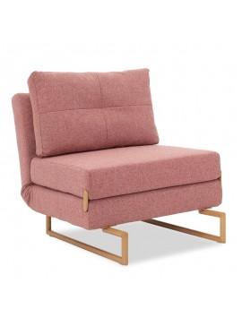 Πολυθρόνα-κρεβάτι Edda pakoworld ύφασμα ροζ 77x93x86εκ 024-000018