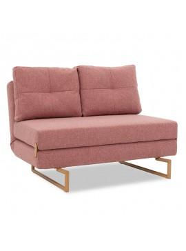 Καναπές 2θέσιος-κρεβάτι Edda pakoworld ύφασμα ροζ 118x98x86εκ 024-000020